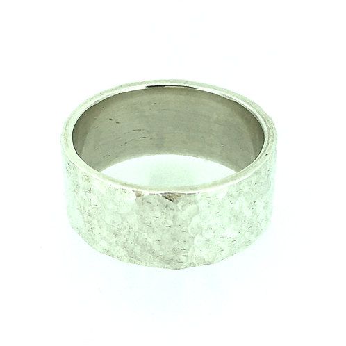 Hammered Heavy Sterling Silver ring