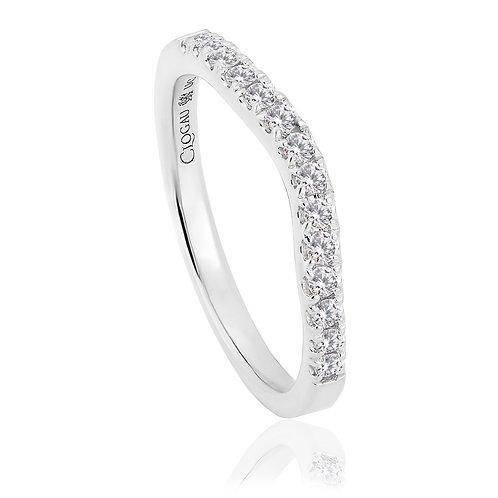 Love Divine Clogau shaped wedding Diamond ring