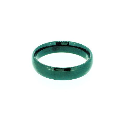 Tungsten black IP plate ring