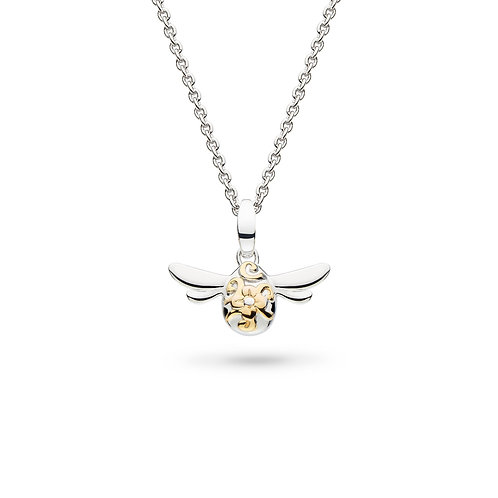 Blossom Flyte Mini Honey Bee Gold and Rhodium plated 17inch necklace