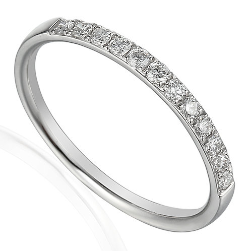 Diamond claw-set half Eternity ring