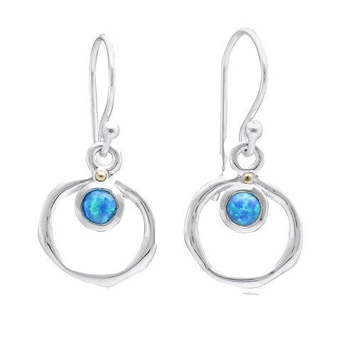 Blue Opalite Silver drop earrings