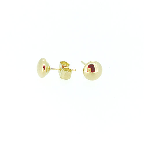 9ct Gold Domed stud earrings