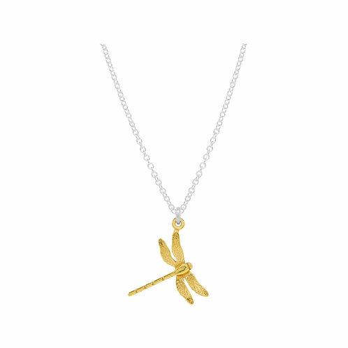 Enchanted gold plated dragonfly necklace