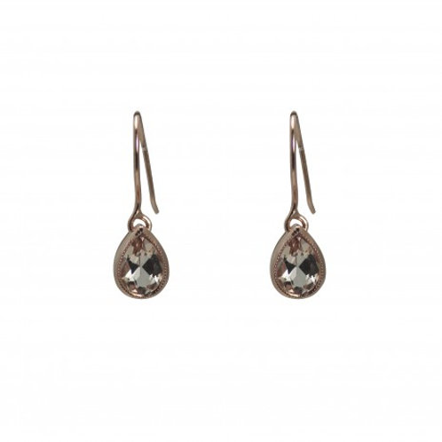 Morganite pear drop earrings