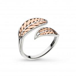 Blossom Eden Blush Leaf Rose Gold plated ring