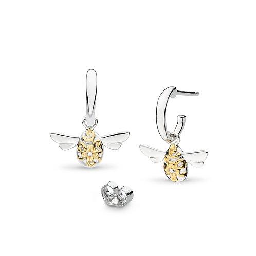 Blossom Flyte Honey Bee Semi Hoop drop earrings