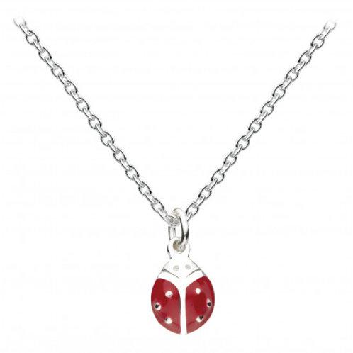 Ladybird Enamel silver pendant