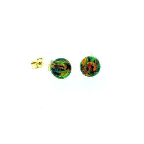 Gilson Opal gold stud earrings