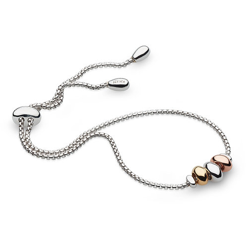 Coast Tumble Golden Silver and Gold plated Toggle Bracelet