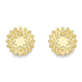 Patterned gold stud earrings