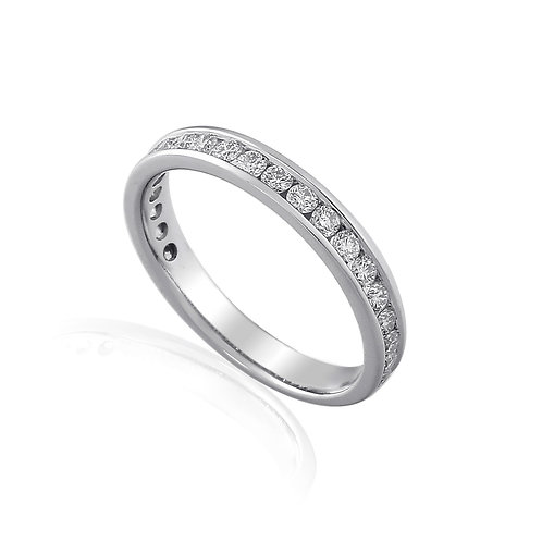 Diamond channel set Platinum Eternity ring