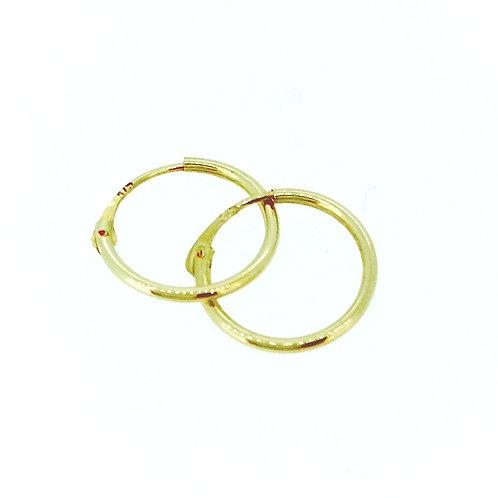 Hinged gold sleeper earrings