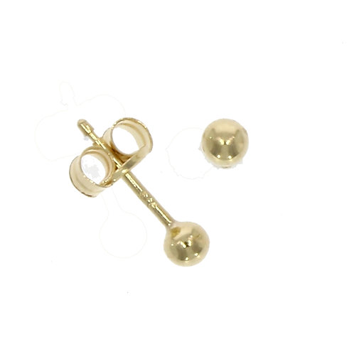 3mm gold ball stud earrings