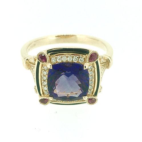 Amethyst 18ct Rose Gold Statement ring