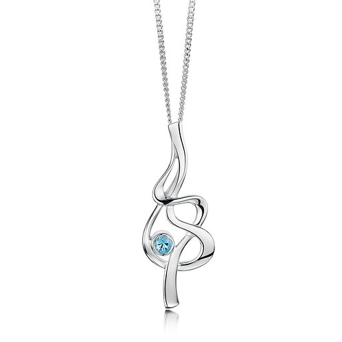 Tidal Silver and Topaz pendant