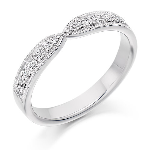 Shaped Diamond 0.20ct half Eternity ring