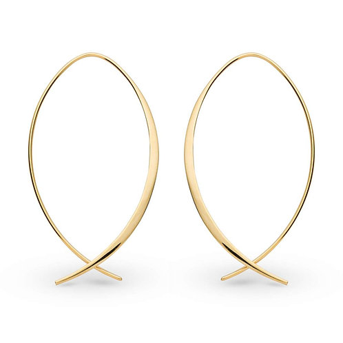 Ear Hangers gold plated silver