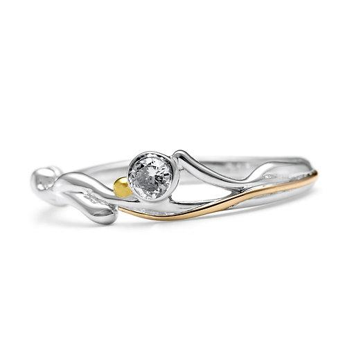 Slim Cubic Zirconia silver ring