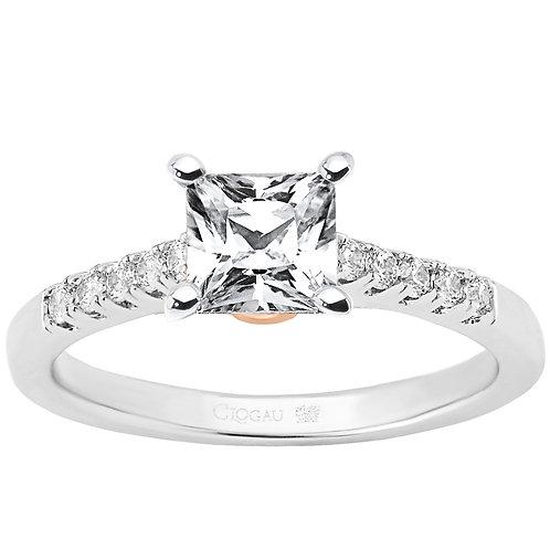 Timeless Love Clogau ring 70 point Princess cut Diamond