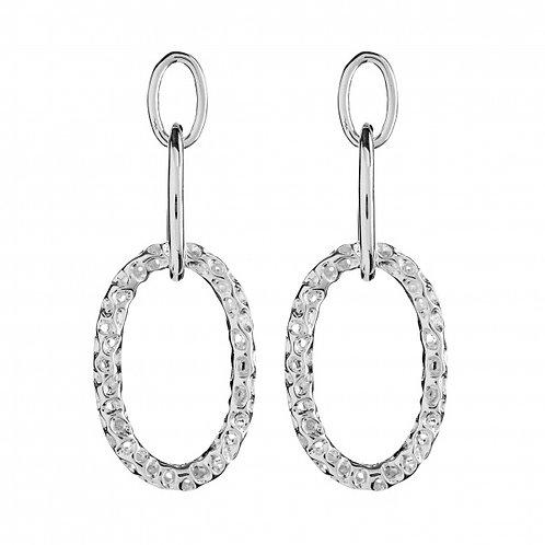 Allegro silver charm earrings