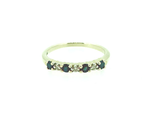 Sapphire and Diamond 9ct gold Eternity ring