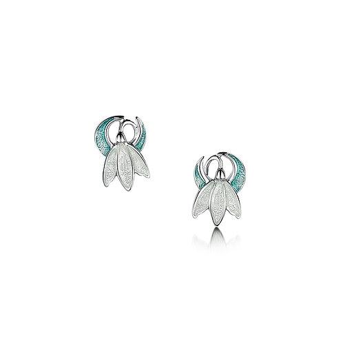 Snowdrop stud earrings