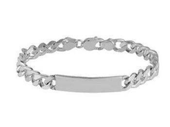Identity silver bracelet