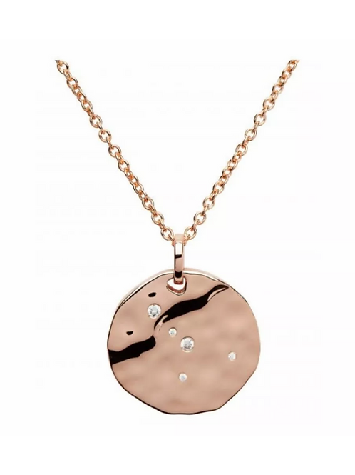 Cancer Constellation Rose gold plated silver pendant