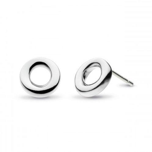 Bevel Cirque 9mm stud earrings