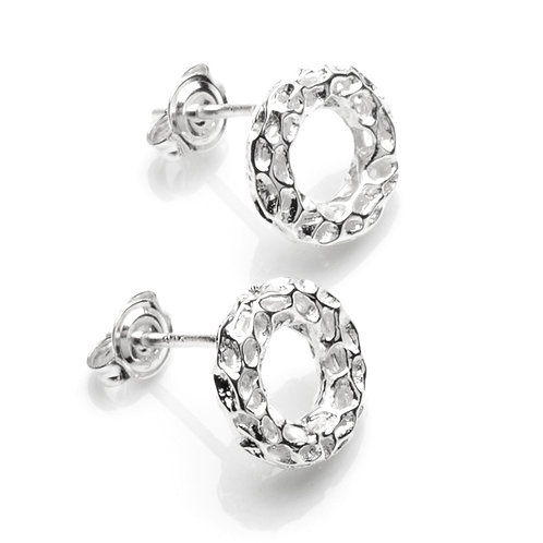 Allegro silver stud earrings
