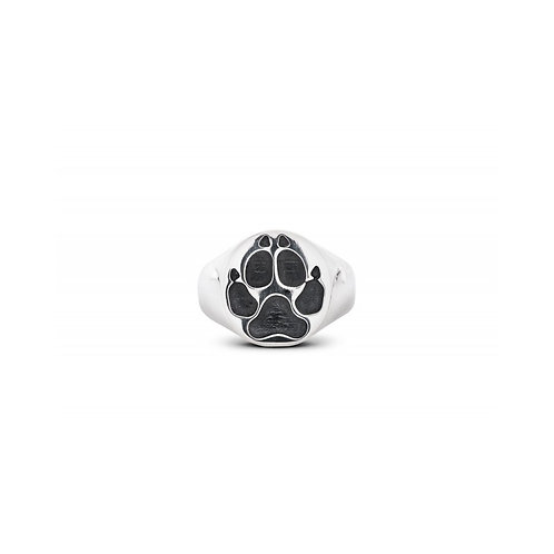 Silver Paw Print ring