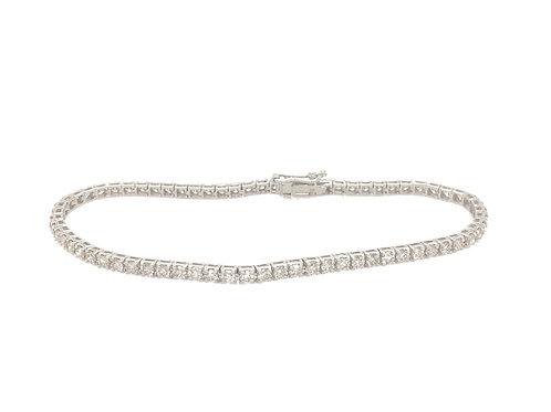 Diamond 3ct Tennis 18ct White Gold Bracelet