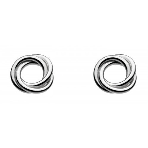 Coiled Silver stud earrings