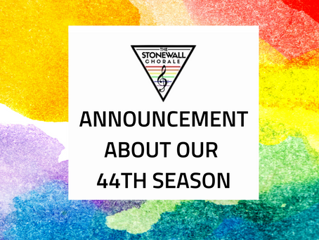 Announcement about our 44th Season