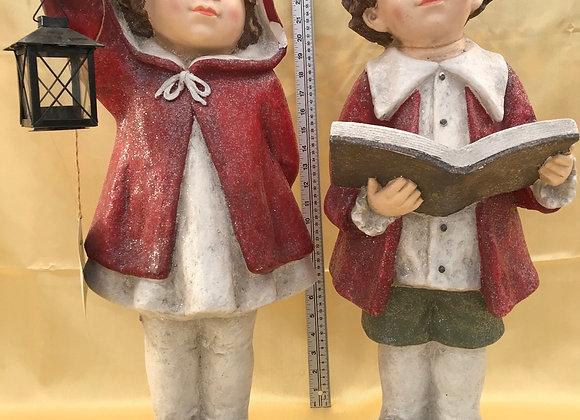 Tushkas Pair with Book and Lantern