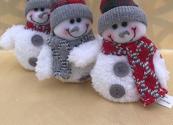 Fuzzy Snowmen Sitters - Single