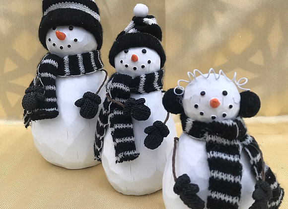 Snowmen - Set of 3