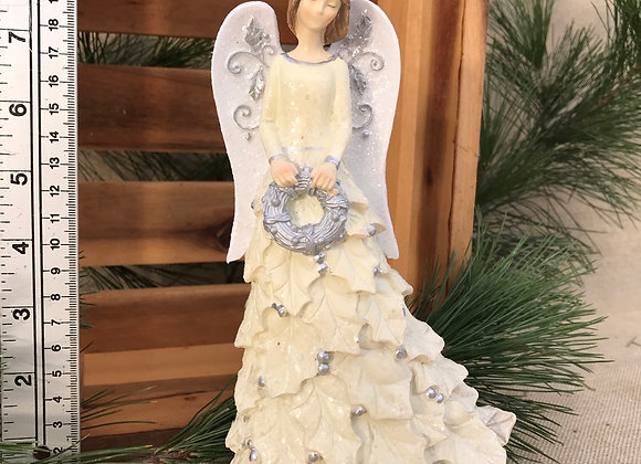 Angel with Wreath Resin