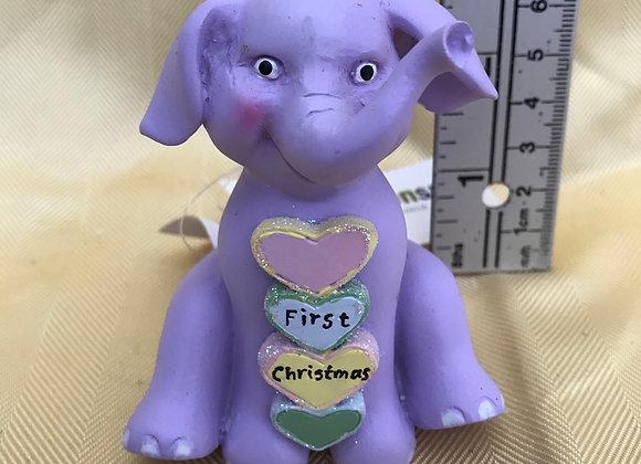 First Christmas Elephant