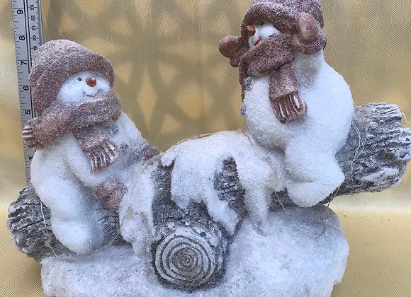Light Up Snowmen on Teeter Totter