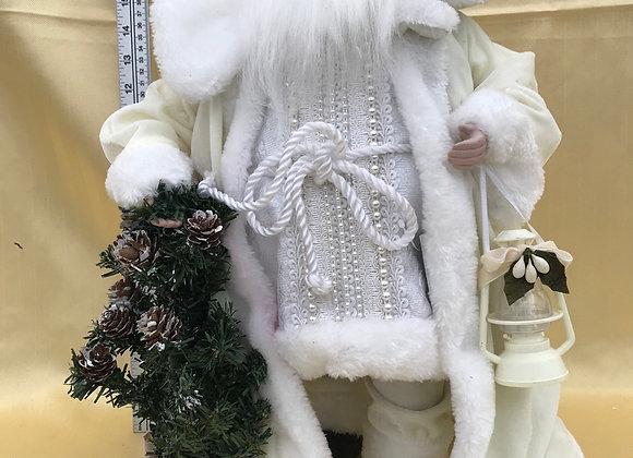 Santa with Tree and Lantern Velvet Coat