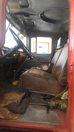 interior of fire truck