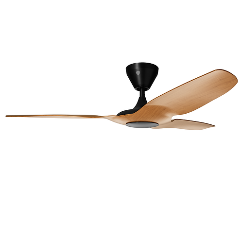 """Haiku 52"""" L-series DC Fan, Caramel, with Integrated Dimmable LED Light"""