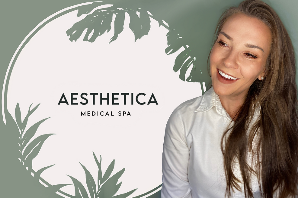Dr Alice from Aesthetica Medical Spa, offering lip fillers, anti wrinkle treatments, botox, and skincare.