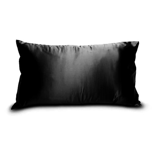Black 100% Mulberry Silk Pillowcase with Gift Box