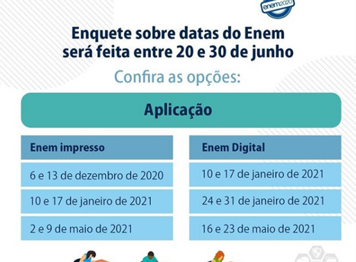 Enquete sobre a nova data do Enem 2020