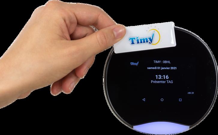 pointeuse badgeuse timy wifi avec badge de pointage