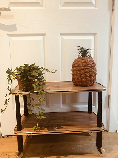 MID CENTURY COFFEE TABLE WHATNOT SHELVING