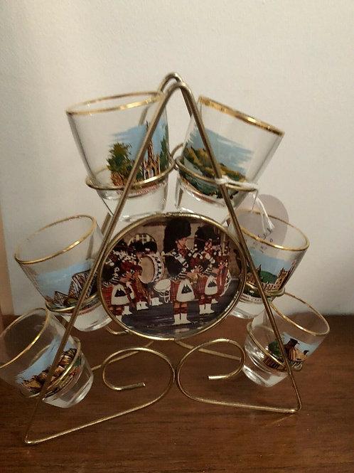 SET OF VINTAGE WHISKY GLASSES
